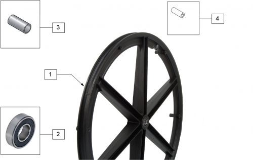 Traditional 6 Spoke Mag parts diagram