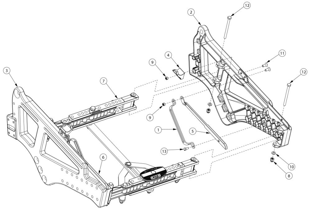 Liberty Ft Side Frame parts diagram