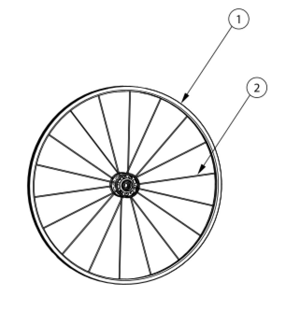 Maxx Performance Spoke Wheel parts diagram