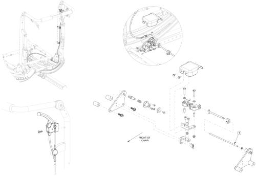 Focus Cr Hand Tilt Mechanism Reclining Back - Growth parts diagram