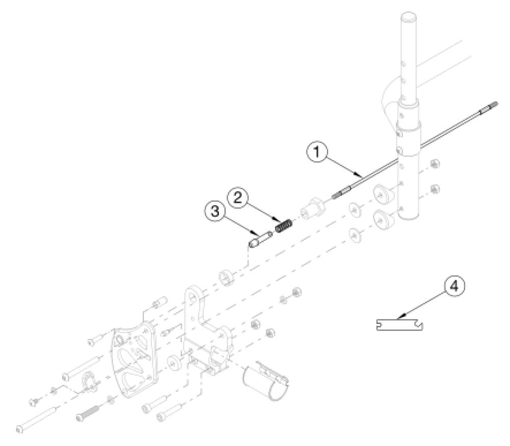 Clik Backrest Mount - Growth parts diagram