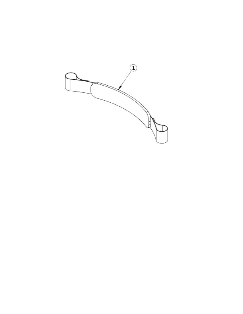 Padded Hook And Loop Adjustable Calf Strap parts diagram