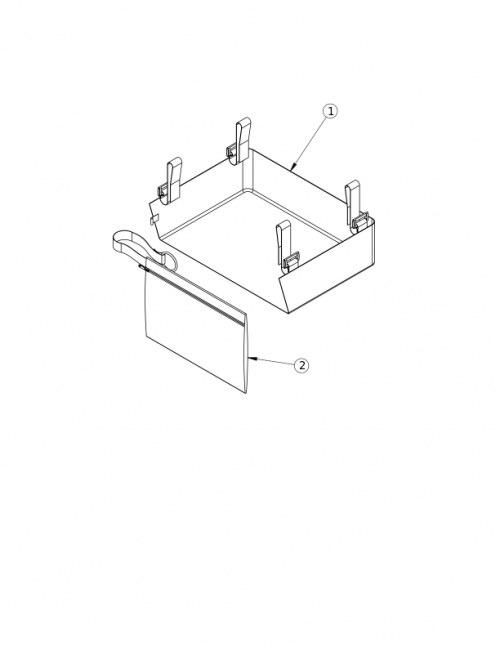 Rigid Under Chair Carrier And Removable Bag parts diagram