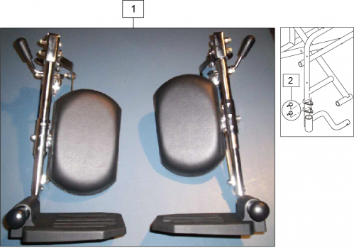 Easy Care Articulating Leg Rest parts diagram