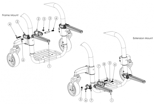 Clik Luggage Carrier parts diagram