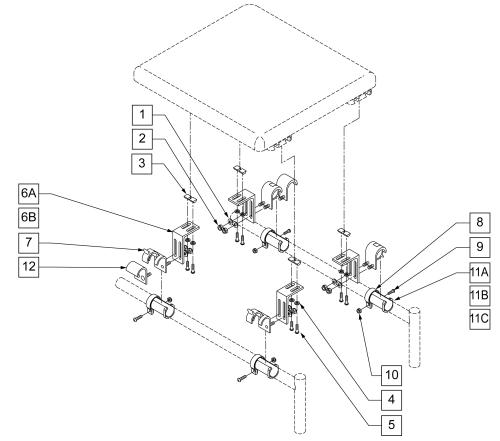 Seat Mounting Hardware -w/ Collars parts diagram
