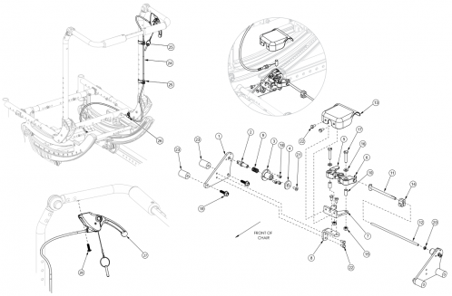 Focus Cr Hand Tilt Mechanism Fixed Height With Adjustable Handle Back parts diagram