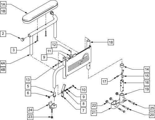 Flip Back Height Adj Armrest parts diagram