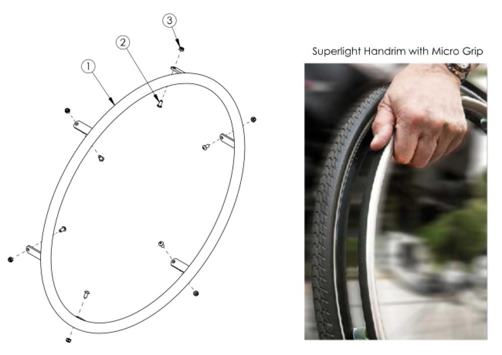 Superlight Handrim parts diagram