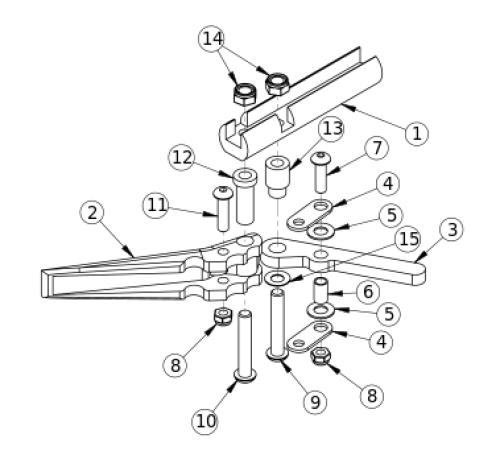 Short Thro Scissor Wheel Lock parts diagram