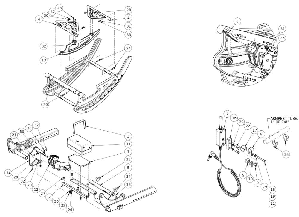 (discontinued 1) Focus Cr Power Tilt parts diagram