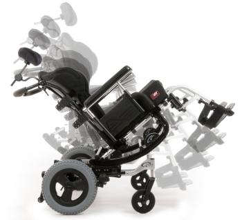 Quickie IRIS SE tilt wheelchair with JAY Seating Bundle