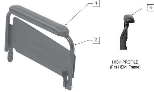 Flip-back Armrest Full parts diagram