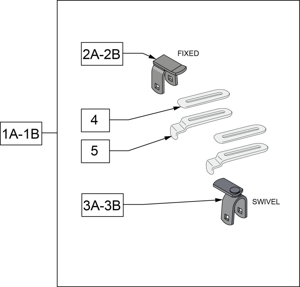 Flush Hook Seat Mounting Hardware parts diagram