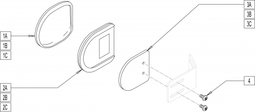 Lateral Thoracic Support Assembly parts diagram