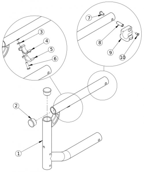 Catalyst Super Low Swing Away Front Frame parts diagram