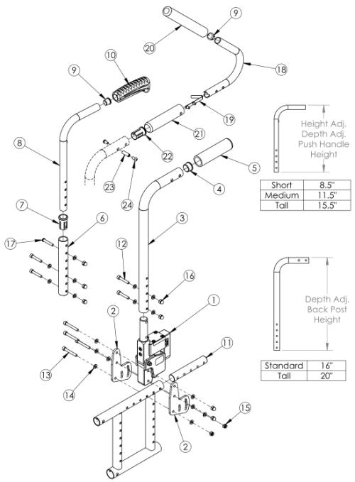 Catalyst Seating Dynamics Rocker Back parts diagram