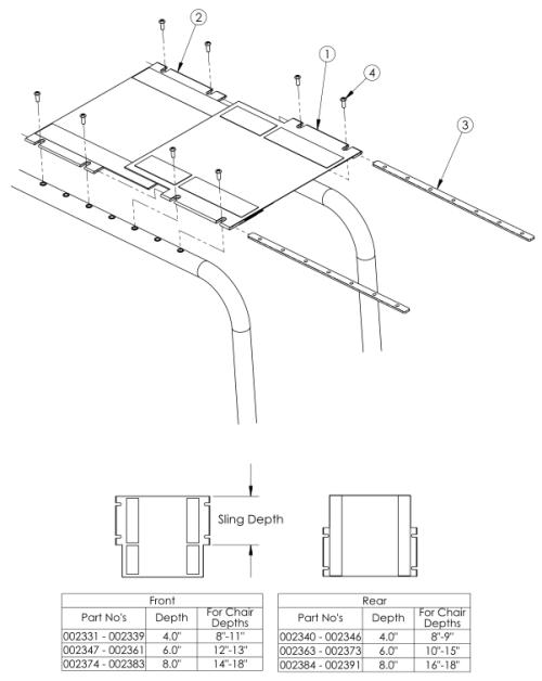 Clik Growing Seat Sling parts diagram