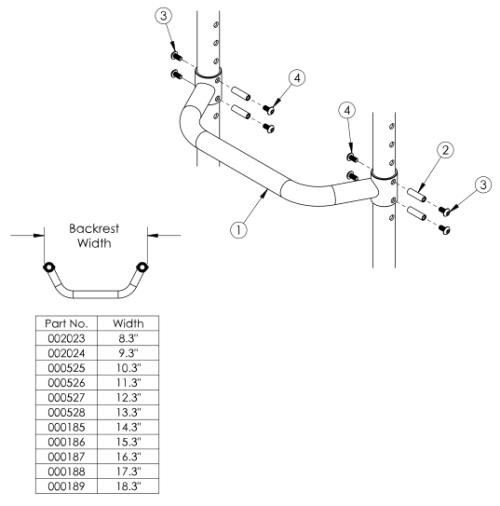 Clik Adjustable Height Rigidizer Bar parts diagram
