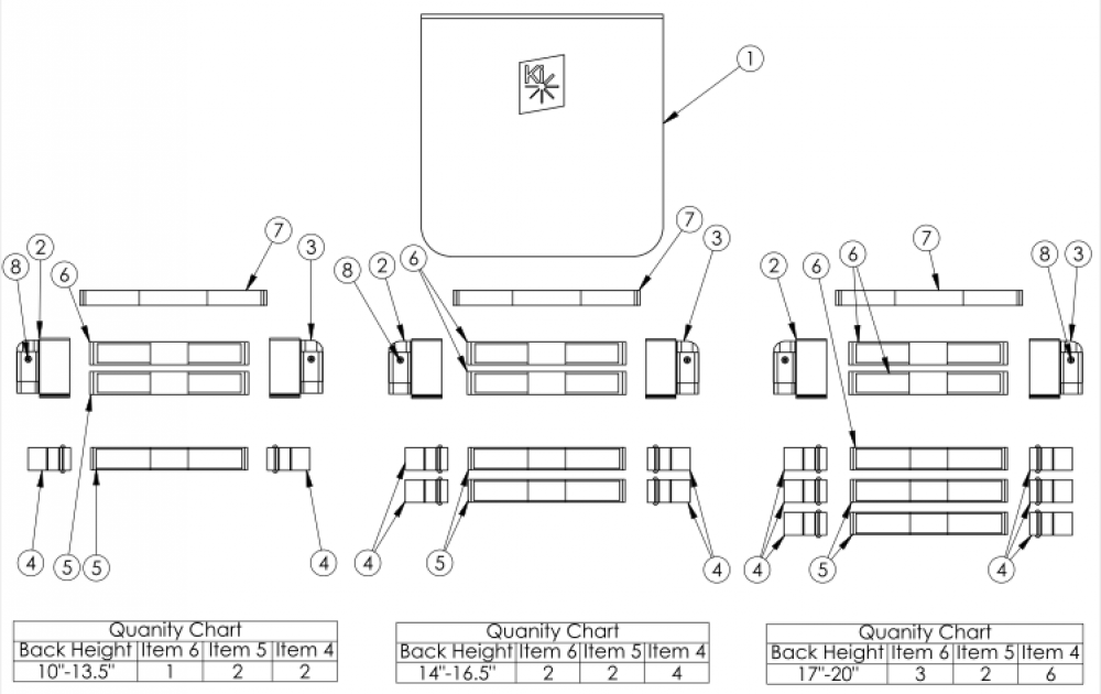 Discontinued 2 Rigid Tension Adjustable Back Upholstery parts diagram