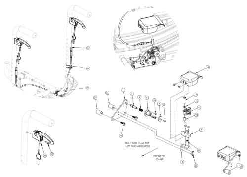 (discontinued 2) Focus Cr Dual Hand Tilt Mechanism Stroller Back parts diagram