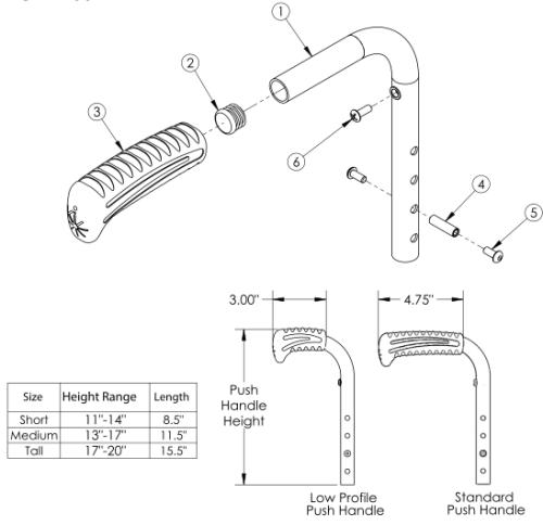 (discontinued) Rogue Push Handle parts diagram