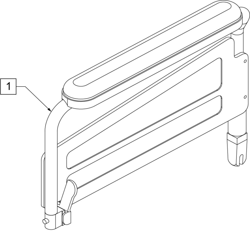 Armrest Full Padded (4000) parts diagram