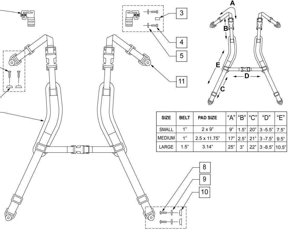 Shoulder Harness parts diagram