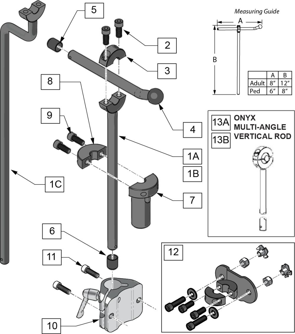 Onyx Headrest parts diagram