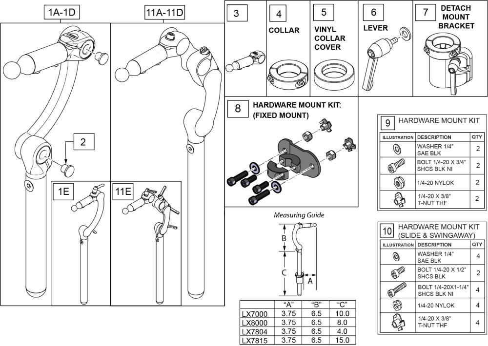 Linx Headrest parts diagram