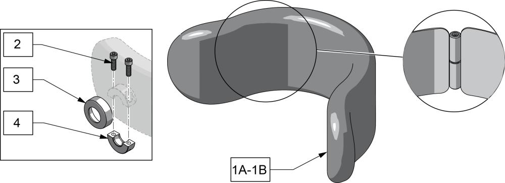 Adjust-a-plush Headrest Pad parts diagram