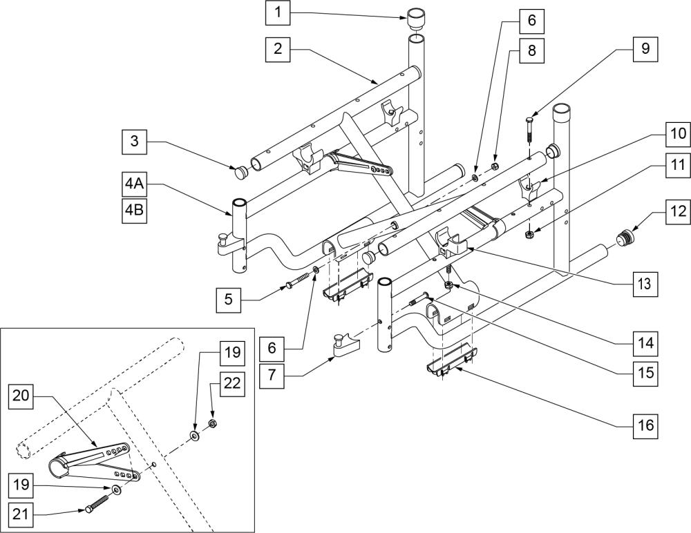 Frame-ultra Hemi parts diagram