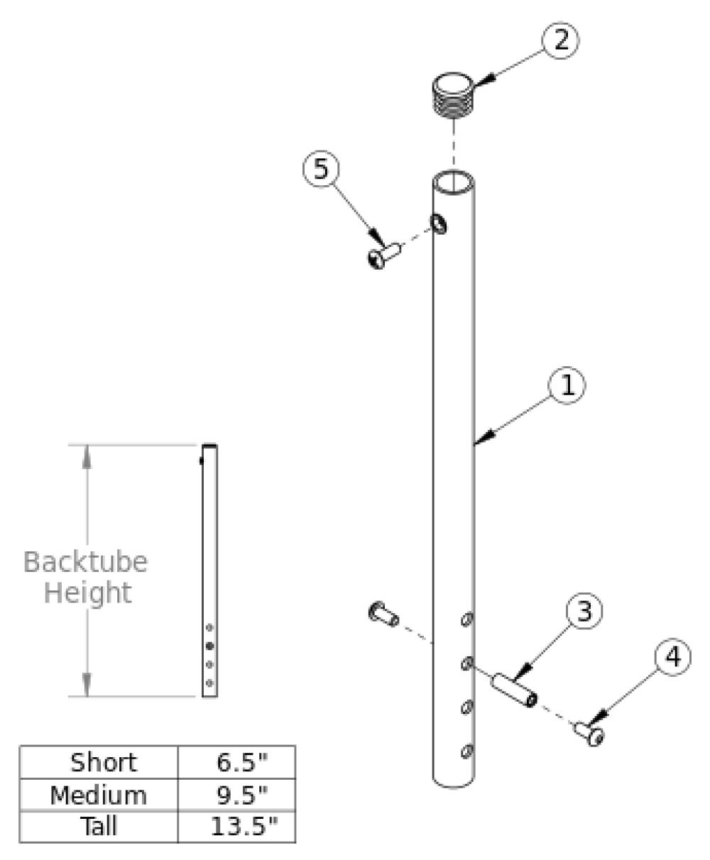 Rigid Backtube parts diagram