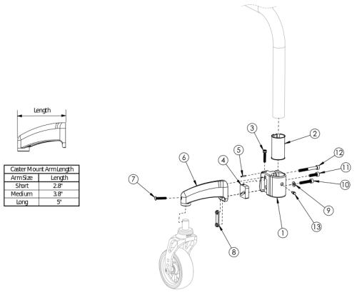 Clik Caster Mount parts diagram