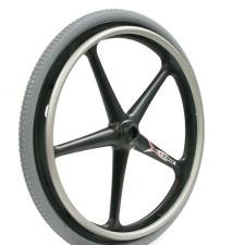 "Quickie 5 Spoke Mag 24"" Wheel Complete"