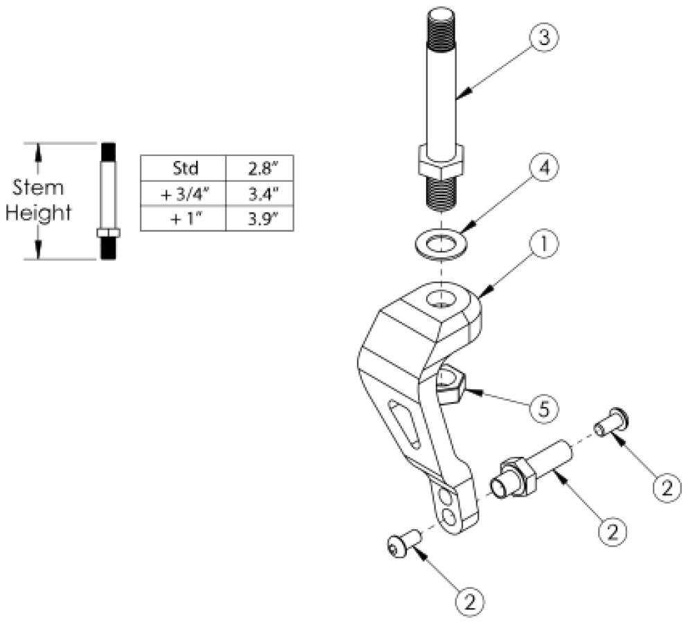 Tsunami Single Sided Fork parts diagram