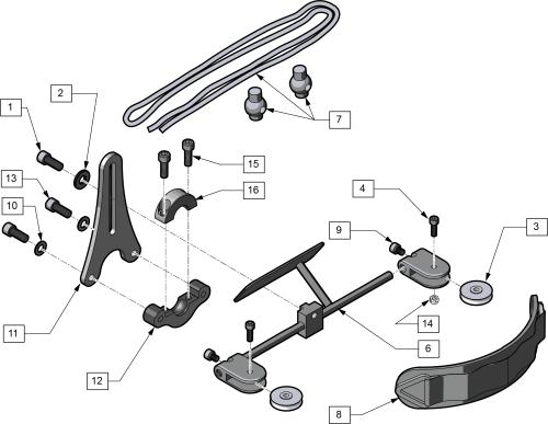 Dynamic Forehead Strap parts diagram