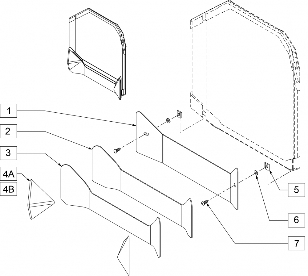 Contour Strips And Lateral Pyramids parts diagram