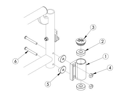 Catalyst 4 Caster Housing parts diagram
