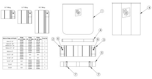Rigid Padded Hook And Loop Adjustable Back Upholstery parts diagram