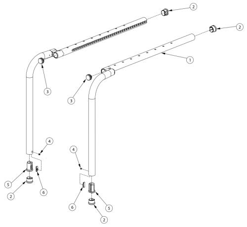 Clik Offset Side Frame parts diagram