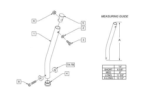 Extension Tube Breezy parts diagram