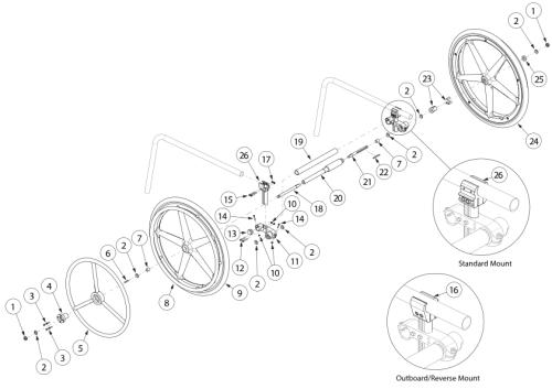 Clik One Arm Drive Blade Style parts diagram