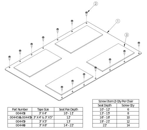 Rigid Aluminum Seat Pan parts diagram