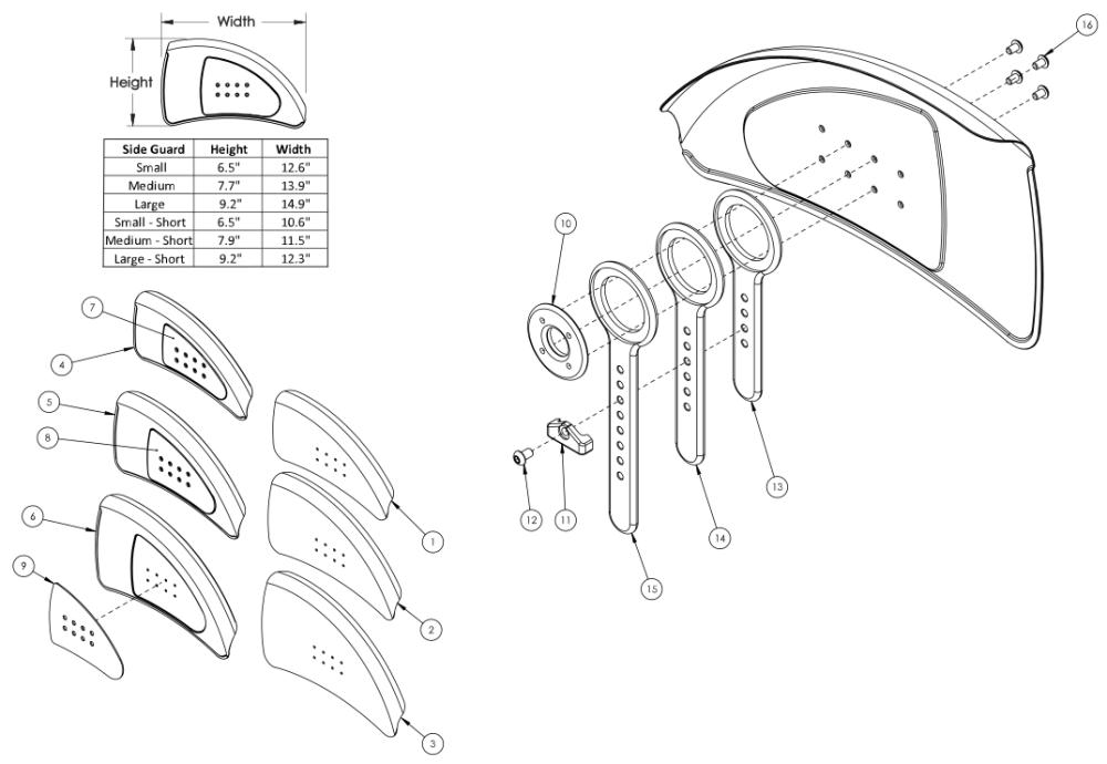 Rigid Adjustable Fender Side Guard parts diagram