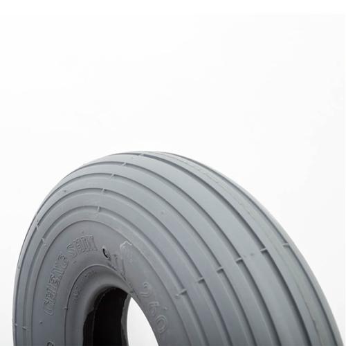 10x3 (300-4) (260x85) Gray Pneumatic Tire, Ribbed Primo Spirit