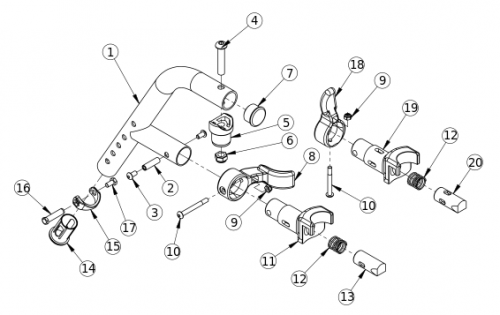 60 Degree Extension Mount Hanger parts diagram
