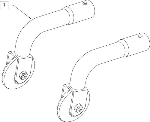 Standard Rear Anti Tip (1000,2000,2000hd,3000) parts diagram