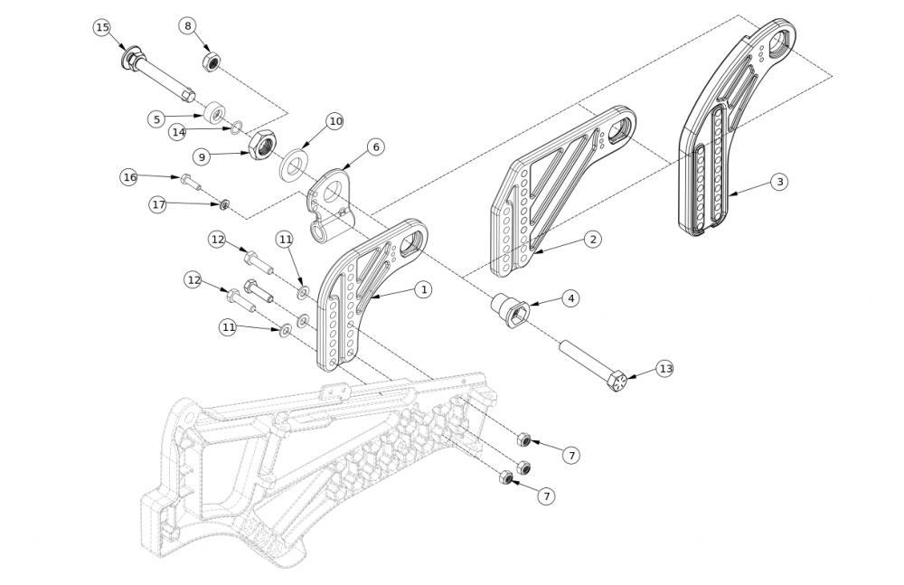 Liberty Ft Axle Plate parts diagram