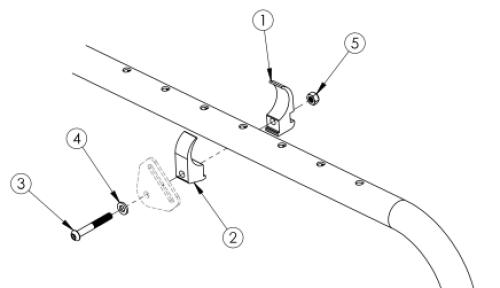Ki Mobility Belt Mounting Clamp parts diagram